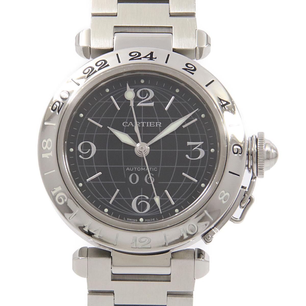 カルティエ W31049M7 パシャC GMTグランデデイト 自動巻