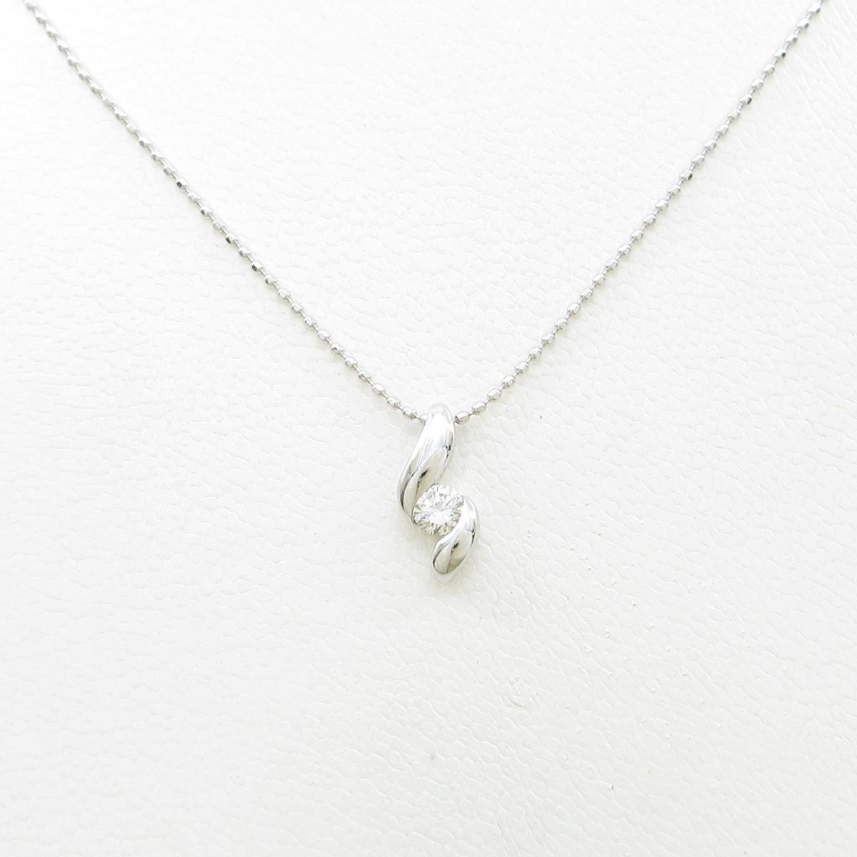 PT/K18WG ダイヤモンドネックレス