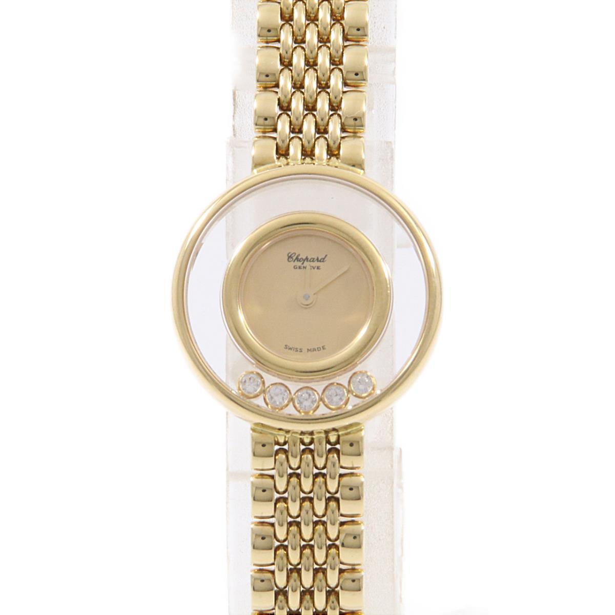 ショパール 206147-0001 ハッピーダイヤモンド YG・5P クォーツ